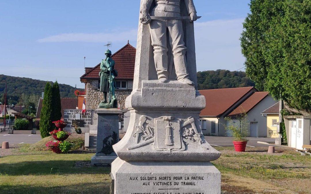 Monuments aux morts 1870/1871 et 1939/1945 Commune de Ronchamp